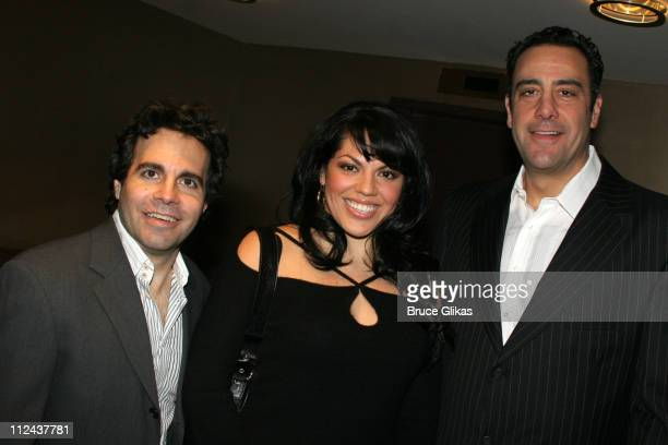 Mario Cantone Sara Ramirez and Brad Garrett during New York Casting Society of America 21st Annual Artio's Awards at American Airlines Theater...