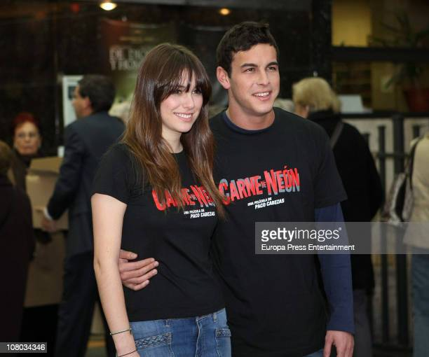 Mario Casas and Blanca Suarez attend the premiere of 'Carne De Neon' on January 13 2011 in Madrid Spain