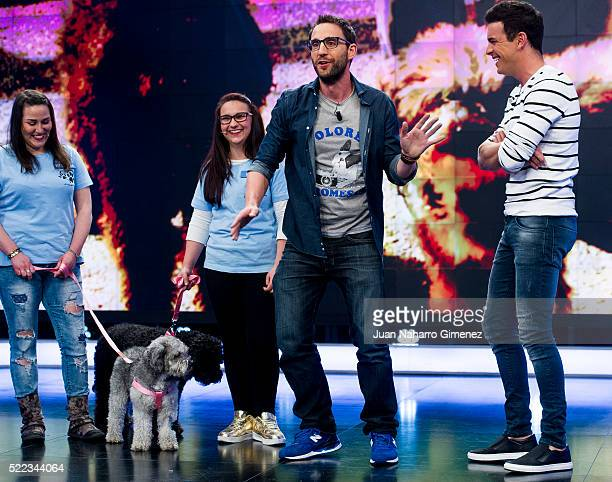Mario Casas and Mario Casas attend 'El Hormiguero' Tv Show at Vertice Studio on April 18 2016 in Madrid Spain