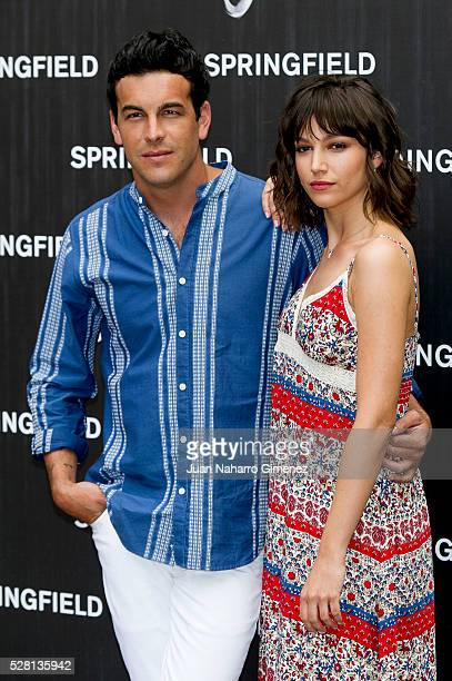 Mario Casas and Ursula Corbero attend Springfield summer campaign presentation at Fortuny on May 4 2016 in Madrid Spain