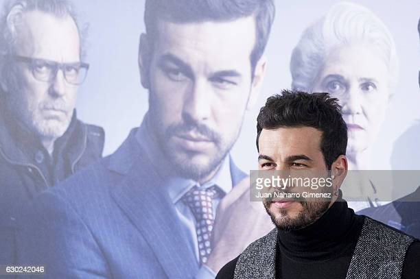 Mario Casas attends 'Contratiempo' photocall at Telefonica Flagship Store on December 19 2016 in Madrid Spain