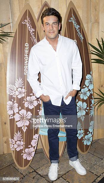 Mario Casas attends the Springfield fashion film presentation photocall at Fortuny palace on May 5 2016 in Madrid Spain