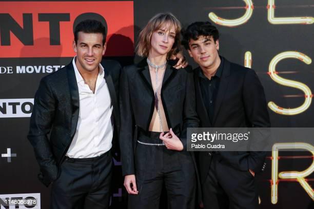 mario Casas Ingrid GarciaJonsson and Oscar Casas attend Instinto premiere by Movistar at Callao Cinema on May 09 2019 in Madrid Spain