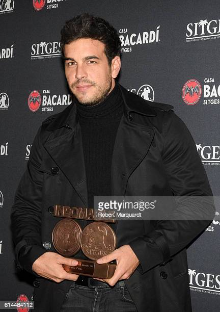 Mario Casas is awarded the 2016 Bacardi Sitges award during the Casa Bacardi photocall on October 13 2016 in Sitges Spain