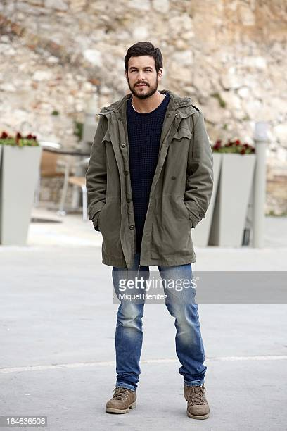 Mario Casas on the set of his latest film 'Ismael' on March 25 2013 in Barcelona Spain