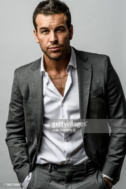 Mario Casas poses for a portrait session at Teatro Cervantes during 22nd Spanish Film Festival of Malaga on March 17 2019 in Malaga Spain