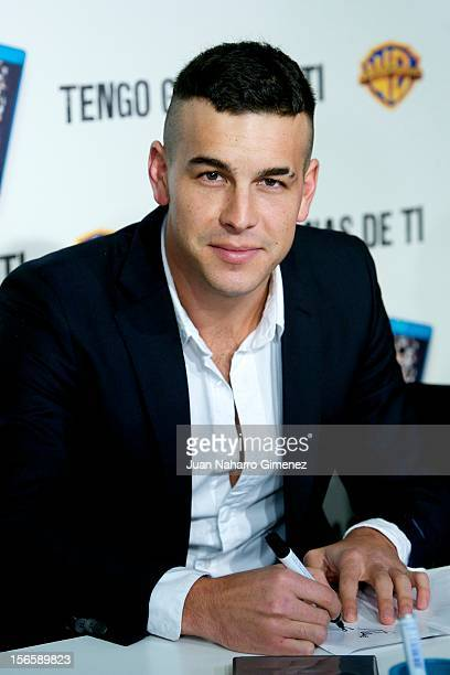 Mario Casas signs copies of Tengo Ganas de Ti at El Corte Ingles on November 17 2012 in Madrid Spain