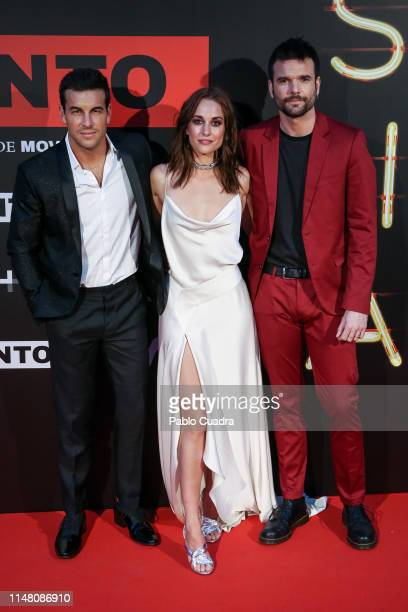 Mario Casas Silvia Alonso Jon Arias attend Instinto premiere by Movistar at Callao Cinema on May 09 2019 in Madrid Spain