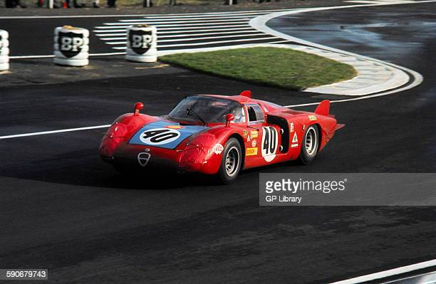 Mario Casoni Giampiero Biscald Alfa Romeo T33 Le Mans 24 Hrs 29 September 1968