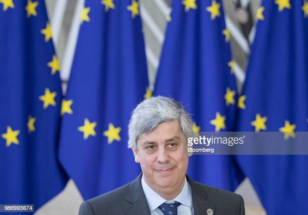 Mario Centeno, Portugal's finance minister, arrives for a European Union leaders summit in Brussels, Belgium, on Friday June 29, 2018. EU leaders...