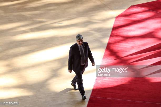 Mario Centeno, President of Eurogroup arrives to the Europa Building during the European Council Summit in Brussels, Belgium on June 21, 2019. The...