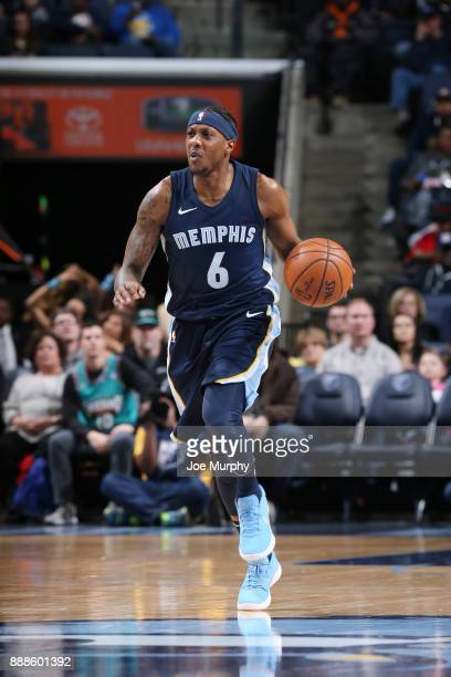 Mario Chalmers of the Memphis Grizzlies handles the ball against the Toronto Raptors on December 8 2017 at FedExForum in Memphis Tennessee NOTE TO...