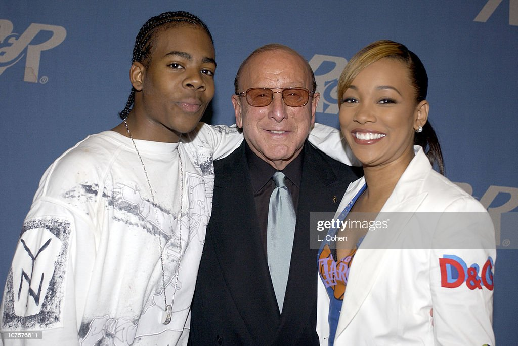Mario, Clive Davis & Monica during Radio & Records Convention 2002 at Beverly Hilton Hotel in Beverly Hills, Ca.