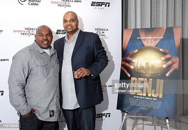 Mario Colman and Kurt Jones attend the Tribeca/ESPN Sports Film Festival AfterParty For BENJI Hosted By Time Warner Cable on April 20 2012 in New...