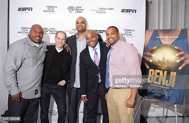 Mario Colman Producer Ted Schilinger Kurt Jones Director Coodie Simmons Director Chike Ozah attend the Tribeca/ESPN Sports Film Festival AfterParty...