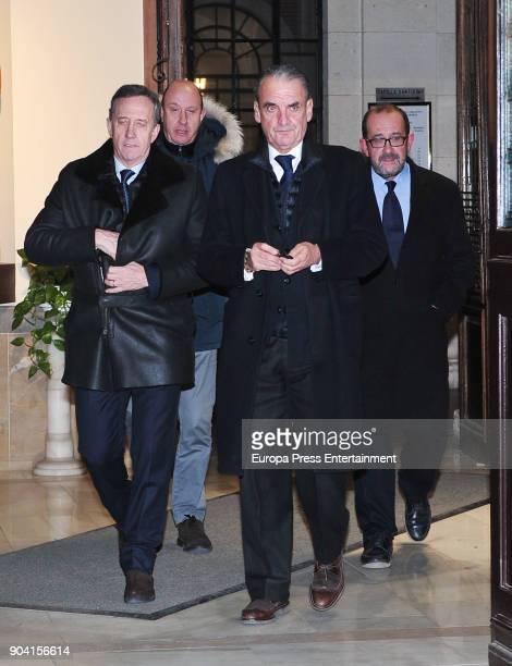 Mario Conde attend the funeral mass for Carmen Franco daughter of the dictator Francisco Franco at the Francisco de Borja church on January 11 2018...