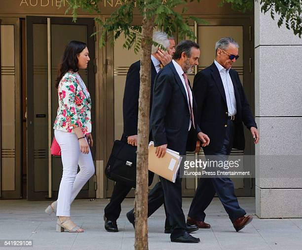 Mario Conde attends National Hight Court to hand over his passport on June 20 2016 in Madrid Spain The ex banker left prison on June 17 2016 after...