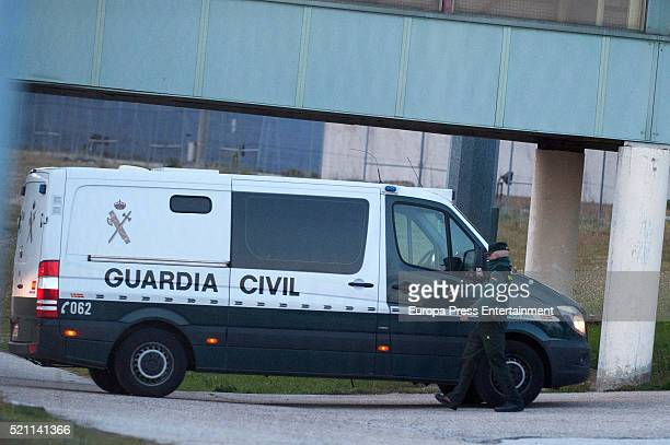Mario Conde goes to prison on April 13 2016 in Madrid Spain Former Chairman of Banesto Mario Conde has been arrested for laundering money held in...