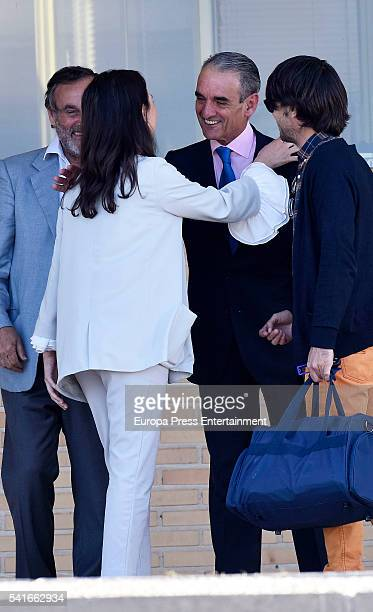 Mario Conde leaves the prison of Soto del Real after paying a bail of 300000 euros on June 17 2016 in Soto del Real Spain Former Chairman of Banesto...