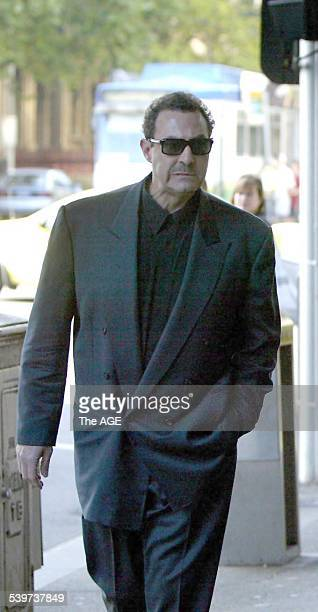 Mario Condello arrives at the Melbourne Magistrates court to hear a remand hearing for Mick Gatto who was charged with the murder of Andrew Veniamin...