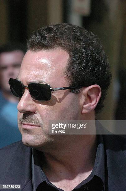 Mario Condello underworld figure at Melbourne Magistrate's court for the court case against Dominic Gatto in the shooting/murder of Andrew Veniamin...