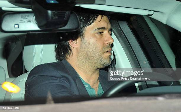 Mario Conde's son Mario Conde jr visit his father after leaving the prison of Soto del Real after paying a bail of 300000 euros on June 17 2016 in...