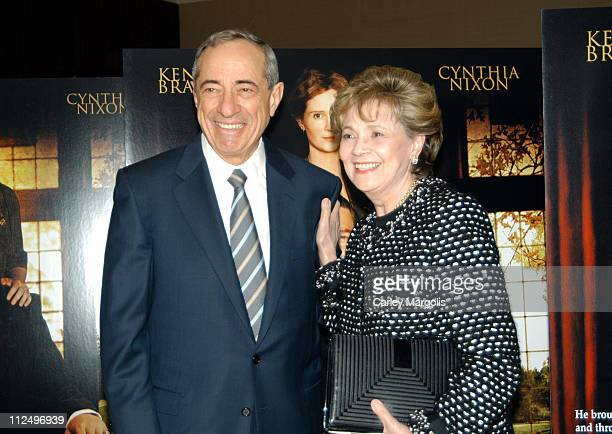 Mario Cuomo and guest during Warm Springs New York Premiere at Time Warner Theater in New York City New York United States