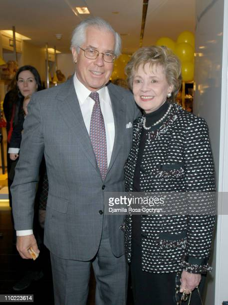 Mario Cuomo and Mathilda Cuomo during Bella Cuomo and Augustus Albemarle's Birthday Party March 17 2005 at Burberry in New York City New York United...