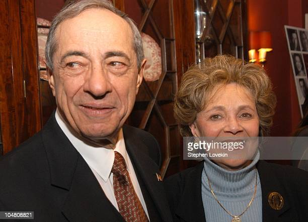 Mario Cuomo and Matilda Cuomo during National Mentoring Month reception at The Harvard Club in New York City United States