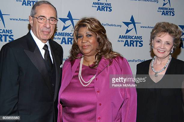 Mario Cuomo Aretha Franklin and Matilda Cuomo attend Americans For The Arts National Arts Awards To Honor Those Who Keep The Arts Alive In America at...