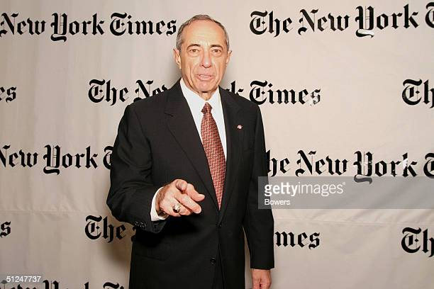 Mario Cuomo attends a party hosted by Arthur O Sulzberger Jr publisher of the New York Times at the Frederick P Rose Hall August 30 2004 in New York...