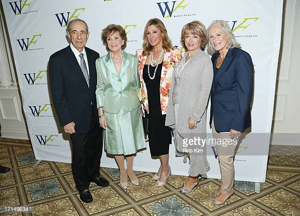 Mario Cuomo Matilda Cuomo Maria Cuomo Cole Pat Mitchell and Glenn Close attend the 3rd Annual Elly Awards Luncheon at The Plaza Hotel on June 25 2013...