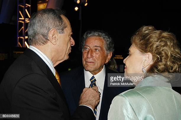 Mario Cuomo Tony Bennett and Matilda Cuomo attend TONY BENNETT'S 80th Birthday Party Hosted by TARGET at Hayden Planetarium on August 3 2006 in New...