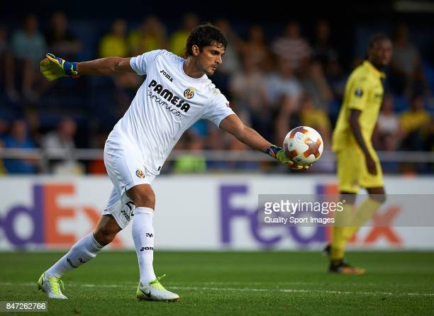 Mario Damian Barbosa of Villarreal in action during the UEFA Europa League group A match between Villarreal CF and FK Astana at Estadio de la...