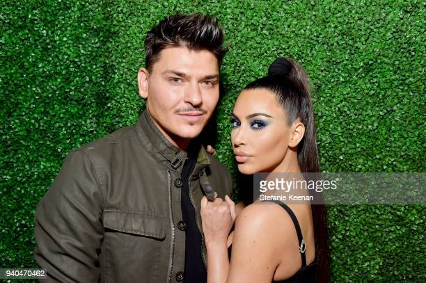 Mario Dedivanovic and Kim Kardashian West attend KKWxMario Dinner at JeanGeorges Beverly Hills on March 31 2018 in Beverly Hills California