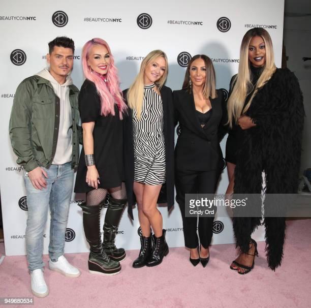 Mario Dedivanovic Kandee Johnson Zanna Roberts Rassi Diana Madison and Laverne Cox attend Beautycon Festival NYC 2018 Day 1 at Jacob Javits Center on...