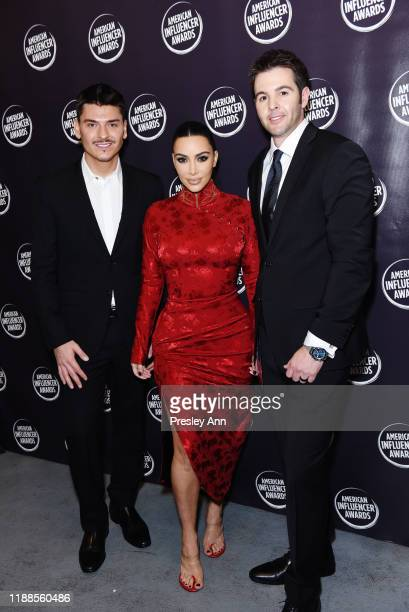 Mario Dedivanovic Kim Kardashian and Founder and CEO of American Influencer Association Christopher Crellin poses backstage during the 2nd Annual...