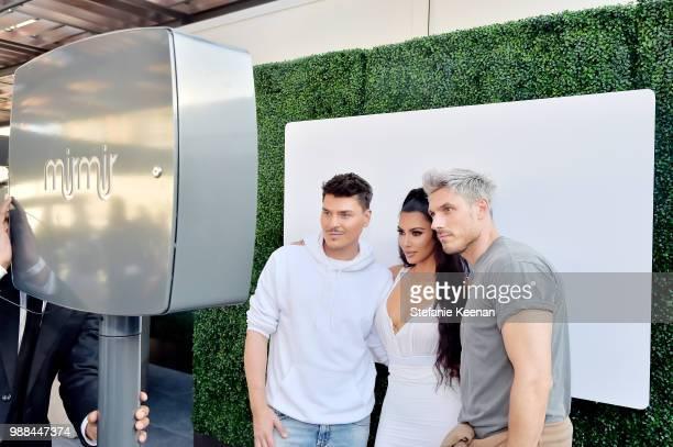 Mario Dedivanovic Kim Kardashian West and Chris Appleton attend KKW Beauty Fan Event at KKW Beauty on June 30 2018 in Los Angeles California