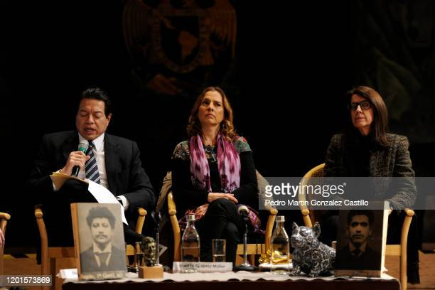 Mario Delgado deputy Beatriz Gutiérrez Mueller head of the honorary council of Memoria Histórica y Cultural de México Anna Ribera Carbó historian...