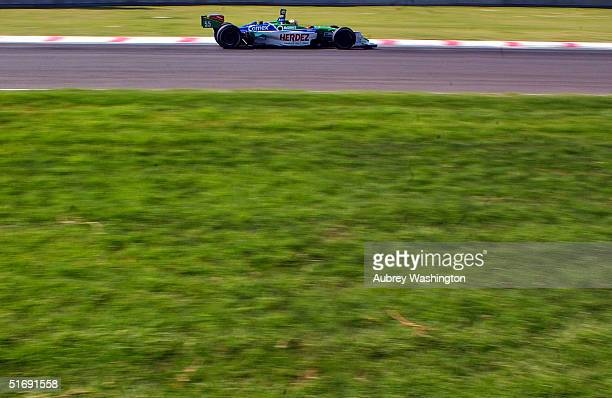 Mario Dominguez of Mexico drives during practice and qualifying for the CART series GP at the Autodromo Hermanos Rodriguez November 6 2004 in Mexico...