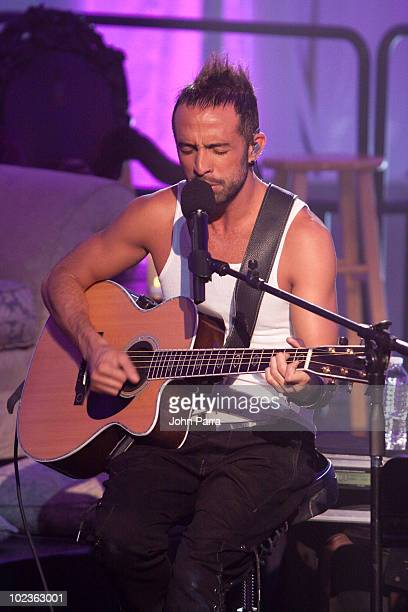 Mario Domm of Camila performs during a taping of Tr3s MTV Unplugged at Paris Theater on June 23 2010 in Miami Beach Florida