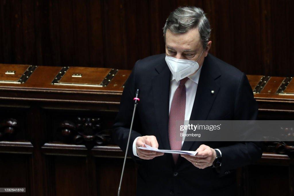 Italy's PM Draghi to Tell Parliament How Hell Spend Billions in EU Aid : Foto di attualità