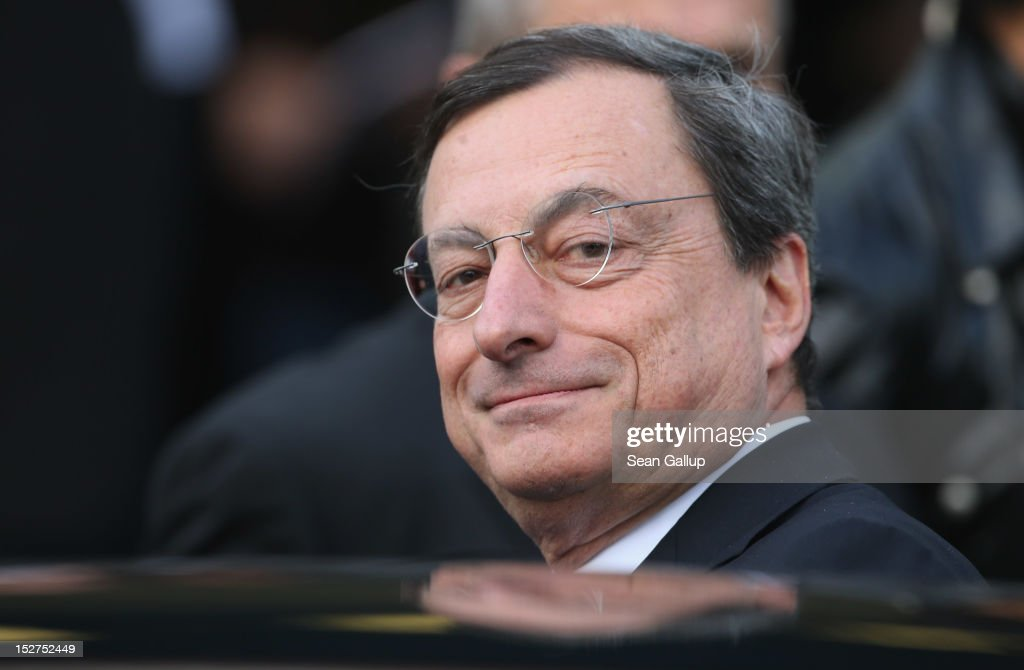 Mario Draghi In Berlin