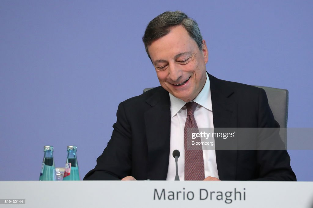 European Central Bank President Mario Draghi Announces Interest Rate Decision : ニュース写真