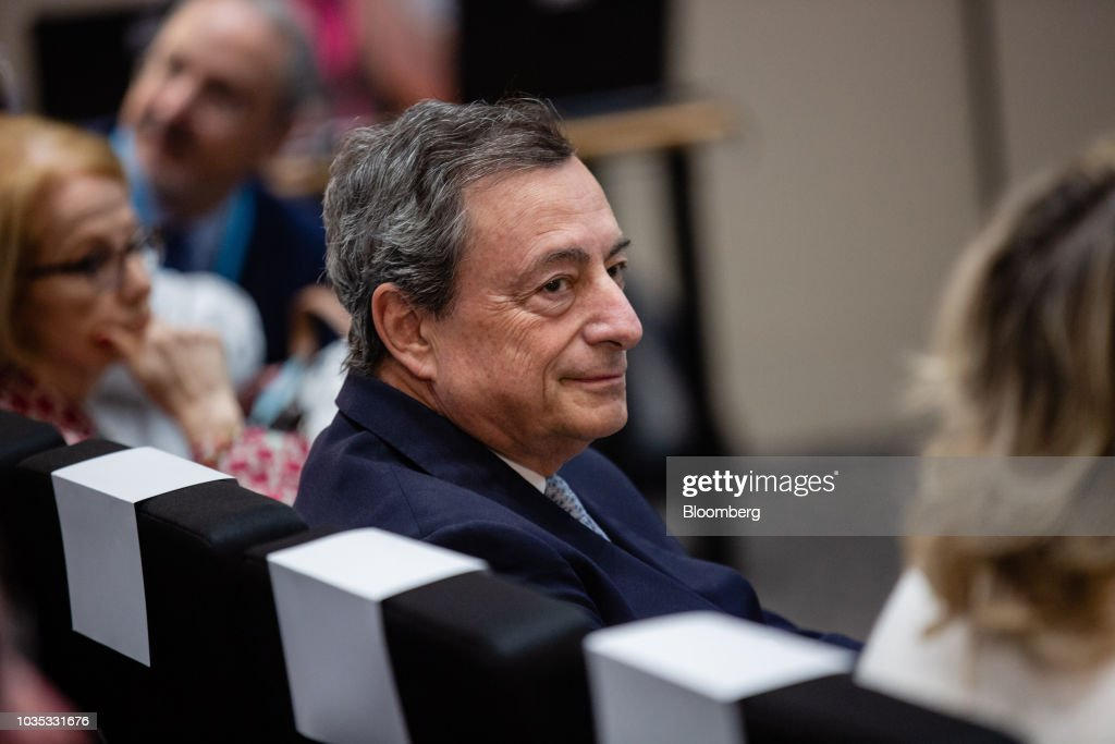 ECB President Mario Draghi Speaks At Bank Of France Conference