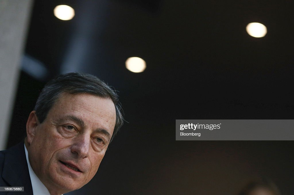 ECB President Mario Draghi Presents Rate Announcement