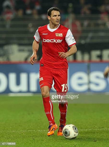 Mario Eggimann of Berlin runs with the ball during the Second Bundesliga match between 1FC Union Berlin and FSV Frankfurt at Stadion An der Alten...
