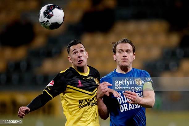 Mario Engels of Roda JC Robbert Schilder of SC Cambuur during the Dutch Keuken Kampioen Divisie match between Roda JC v SC Cambuur at the Parkstad...