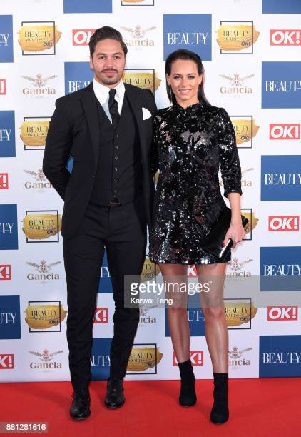 Mario Falcone and Becky Miesner attend The Beauty Awards at Tower of London on November 28 2017 in London England
