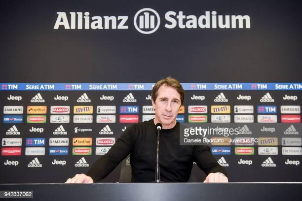 Mario Fargetta visits Allianz Stadium & Juventus Museum on April 5, 2018 in Turin, Italy.